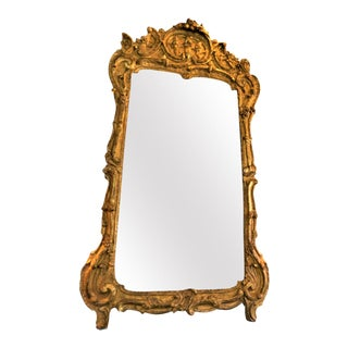 18th Century French Louis XV Gilded Mirror For Sale