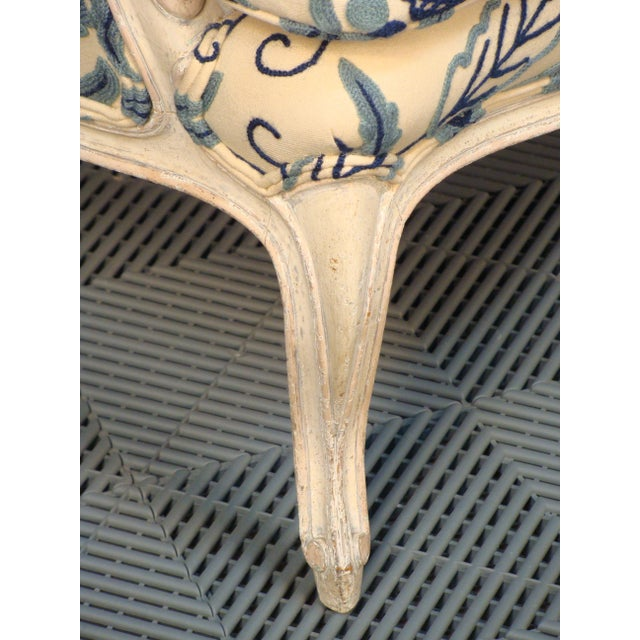 French Louis XV Style Bergere Chairs - A Pair - Image 7 of 8