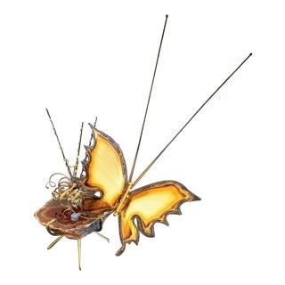 Mid-Century Modern Brutalist Kinetic Butterfly Geode For Sale