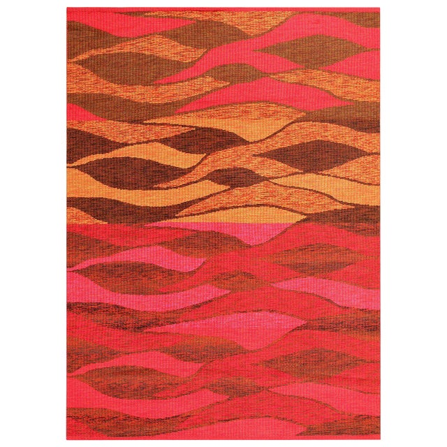 Vintage Double-Sided Swedish Kilim Carpet For Sale