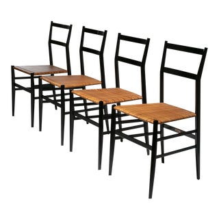 "Set of 4 ""Superleggera"" Chairs by Gio Ponti for Cassina"