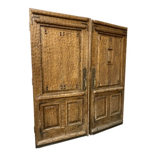 Rustic Spanish Double Entry Doors - a Pair For Sale