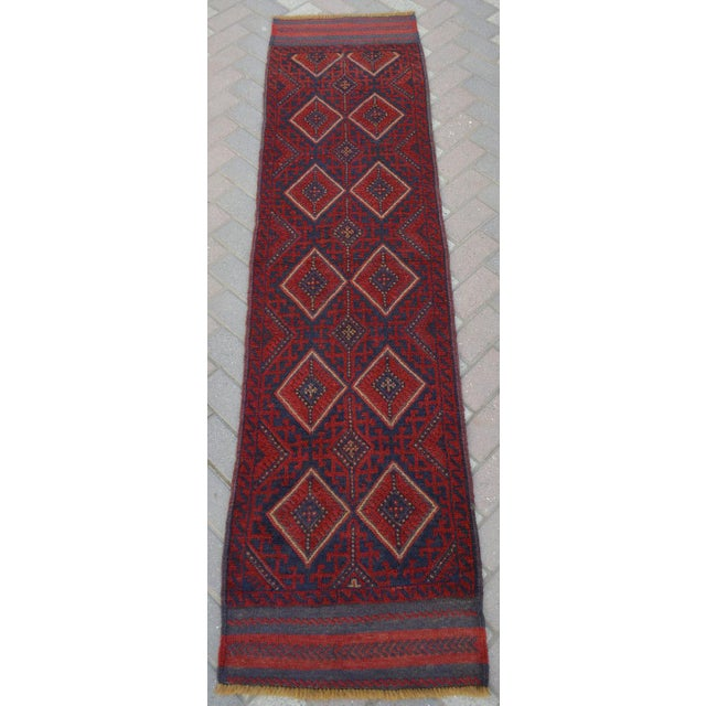 "Vintage Tribal Turkish Kilim Runner - 2' x 8'2"" For Sale In Orlando - Image 6 of 6"