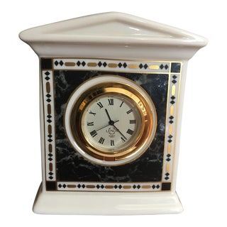 Lenox China Marble Quarts Clock For Sale