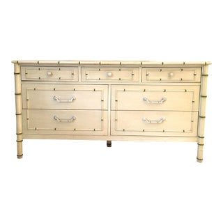 Faux Bamboo Chest of Drawers Dresser Regency Thomasville For Sale