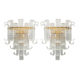 1960s Felci Sconces by Barovier e Toso - a Pair For Sale