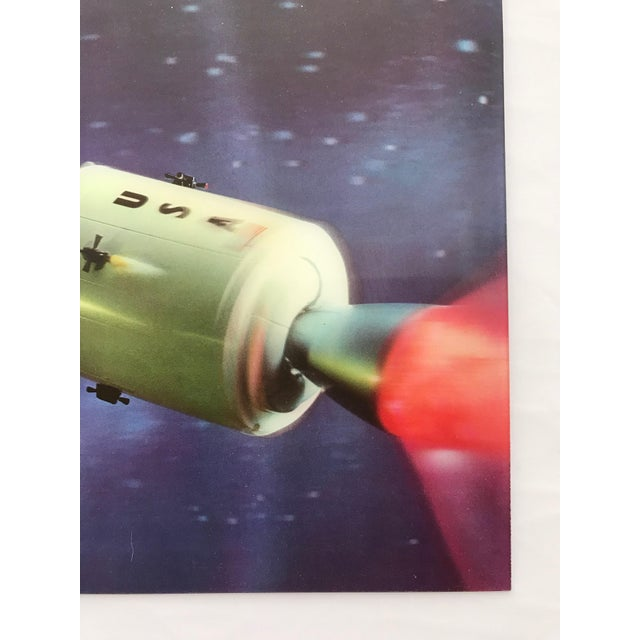 Americana Lenticular Animation Moon Landing Astronaut Prints From 1966 - Set of 4 For Sale - Image 3 of 12