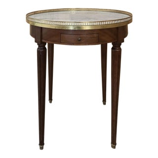 19th Century French Directoire Marble Top Round End Table For Sale
