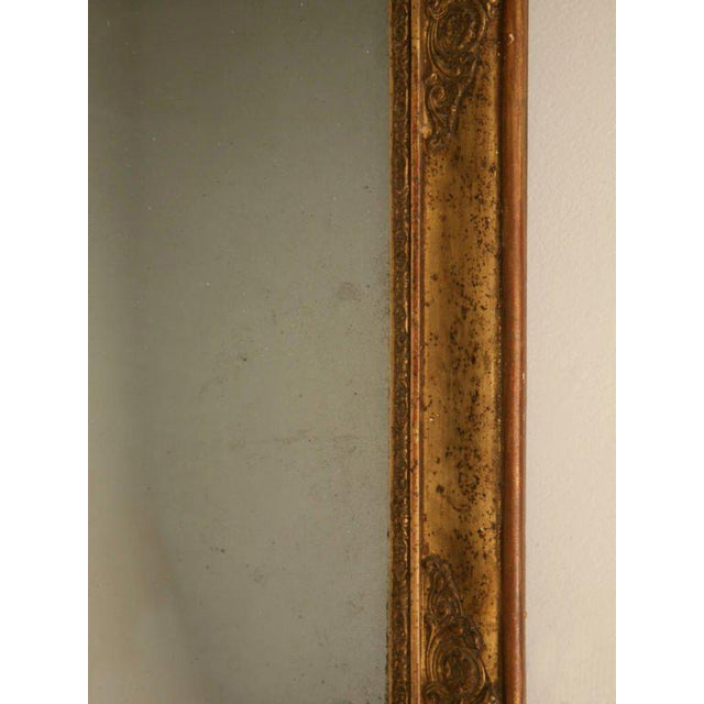Petite All Original 18th C. Antq French Gilt Framed Sugar Mirror For Sale - Image 10 of 12