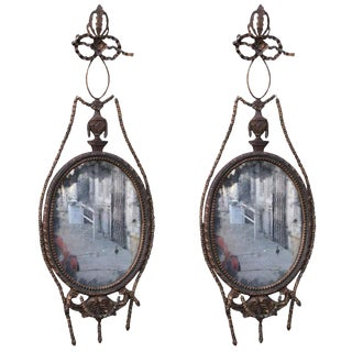Gilt Wood & Tole Italian Style Mirrors - A Pair