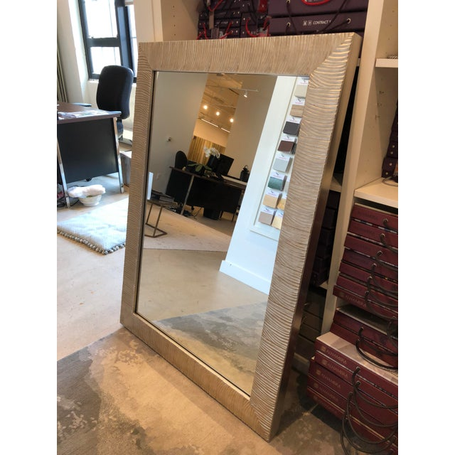Early 21st Century Transitional Style Silver Leaf Wall Mirror For Sale - Image 5 of 8