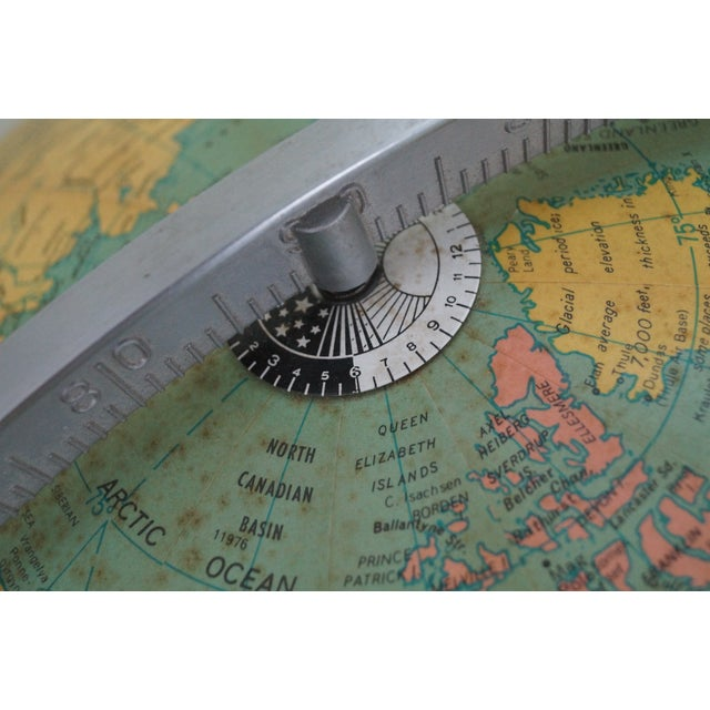 Black Jens Risom Hans Knoll Mid-Century Wood Frame Globe For Sale - Image 8 of 10
