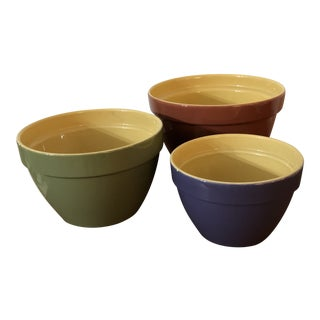 Yelloware Nesting Mixing Bowls - Set of 3 For Sale