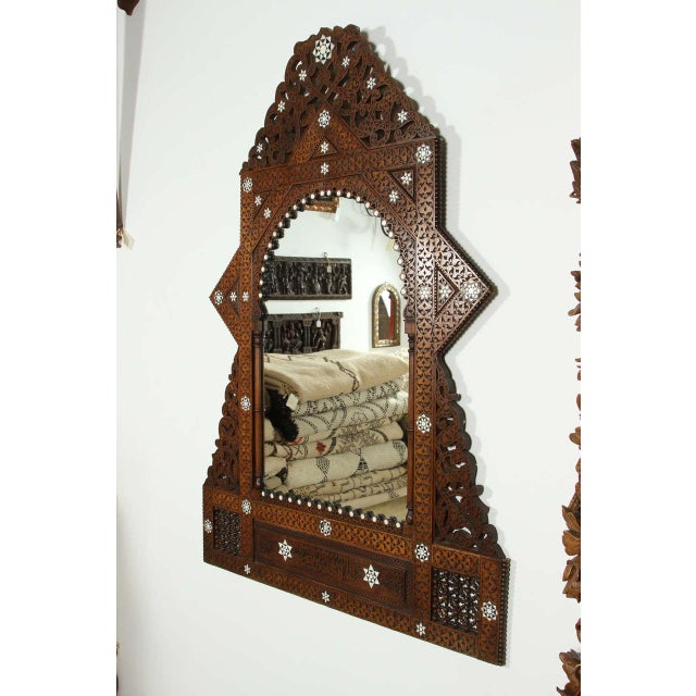 Antique 19th Century Syrian Damascus Mirror With Mother-Of-Pearl For Sale - Image 9 of 9
