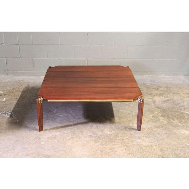 Rosewood and Brass Coffee Table - Image 10 of 10