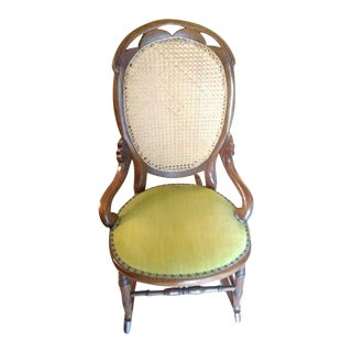 Lincoln Cane Back Rocking Chair For Sale