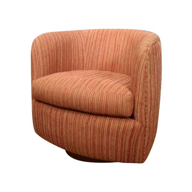 Milo Baughman Mid Century Swivel Club Chair - Image 1 of 5