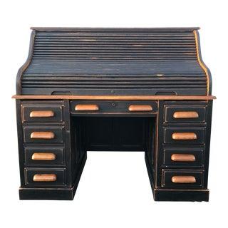 National Mt. Airy Oak Rolltop Desk For Sale