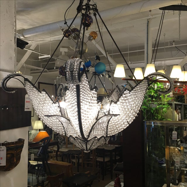 Jeweled Swan Chandelier - Image 6 of 7