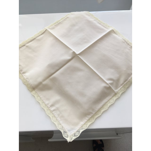 1940s Shabby Chic Embroidered Table Napkins - Set of 8 For Sale - Image 4 of 5