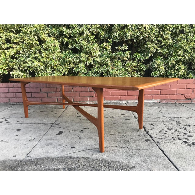 Mid-Century Danish Coffee Table by Dux For Sale In Los Angeles - Image 6 of 10