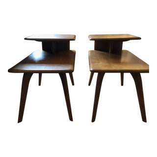 1950s Mid-Century Modern Heywood-Wakefield End Tables - a Pair For Sale