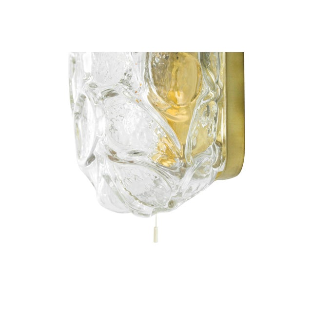 Brass 1960s Austria Murano Glass and Brass Sconces - Set of 3 For Sale - Image 7 of 8