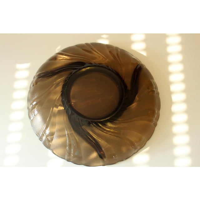 Vintage Smoked Glass Trinket Bowl For Sale - Image 4 of 5