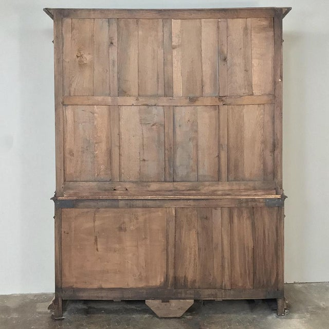 19th Century French Renaissance Stripped Oak Bookcase For Sale - Image 12 of 13