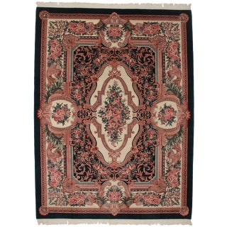 French Aubusson Design Vintage Area Rug For Sale