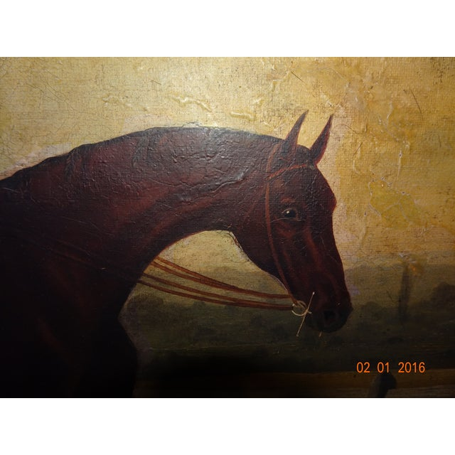Green Jockey on Race Horse Painting For Sale - Image 8 of 11