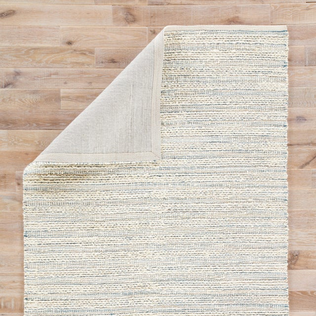 Jaipur Living Canterbury Natural Stripe White/ Blue Area Rug - 9' X 12' For Sale - Image 4 of 6