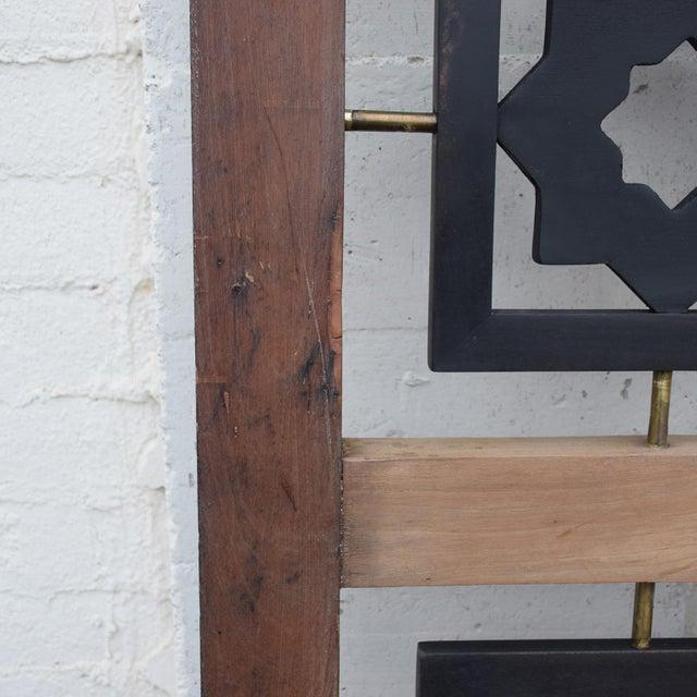 Mexican Modernist Mahogany Room Divider Escudero Era For Sale In San Diego - Image 6 of 9