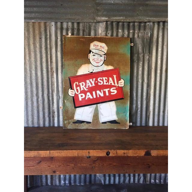 Vintage Original Gray-Seal Paints Sign - Image 9 of 10
