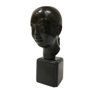 Nguyen Than Le (Vietnamese, 1919-2003) Bust of a Vietnamese Woman For Sale