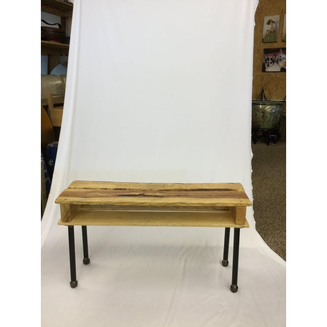 Have a small space and need fashionable furniture? Look no further! This little one of a kind hallway table is the one....