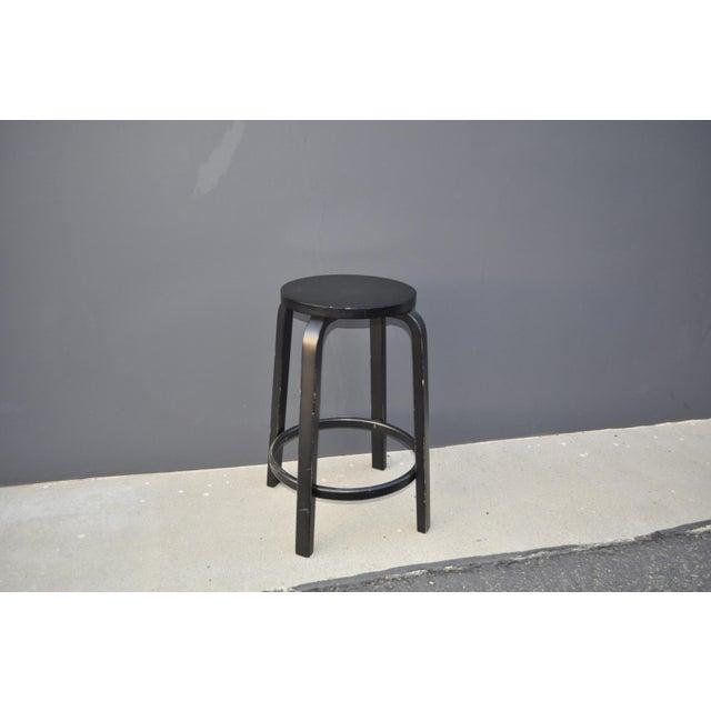 Wood Alvar Aalto for Artek Stools For Sale - Image 7 of 7