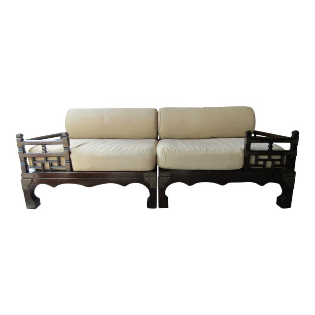1970s Vintage Asian Style Day Bed For Sale