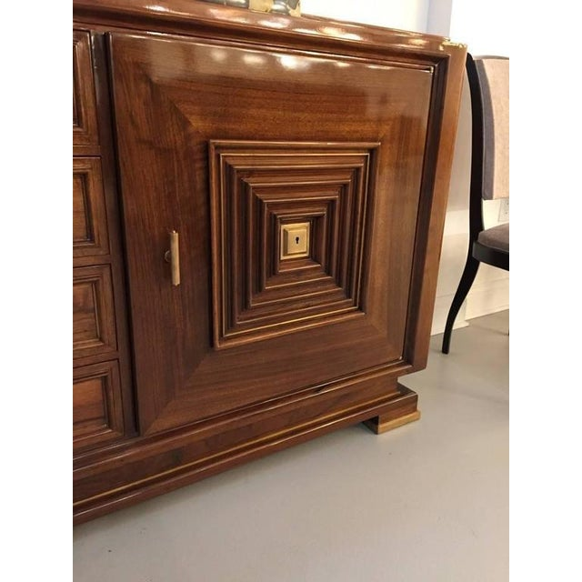 1940s French Art Deco Buffet with Marble Top For Sale - Image 5 of 7