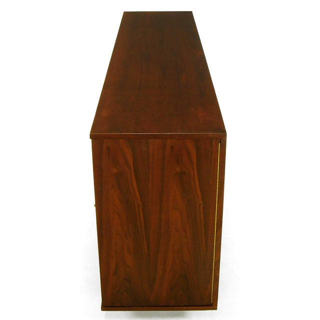 Dunbar Walnut and Cane Credenza by Edward Wormley For Sale In Chicago - Image 6 of 10