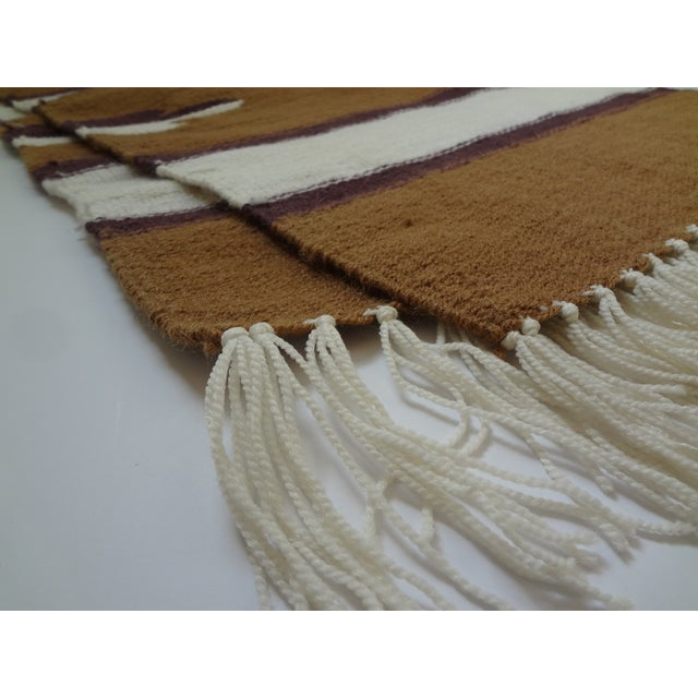 Hand Woven Chimayo Wool Runner - 1′6″ × 5′3″ - Image 4 of 6