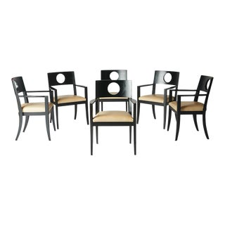 1980s Modern Dining Arm Chairs by Michael Graves - Set of 6 For Sale