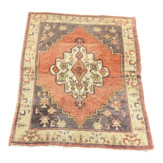 Vintage Turkish Anatolian Rug - 4′9″ × 5′11″ For Sale