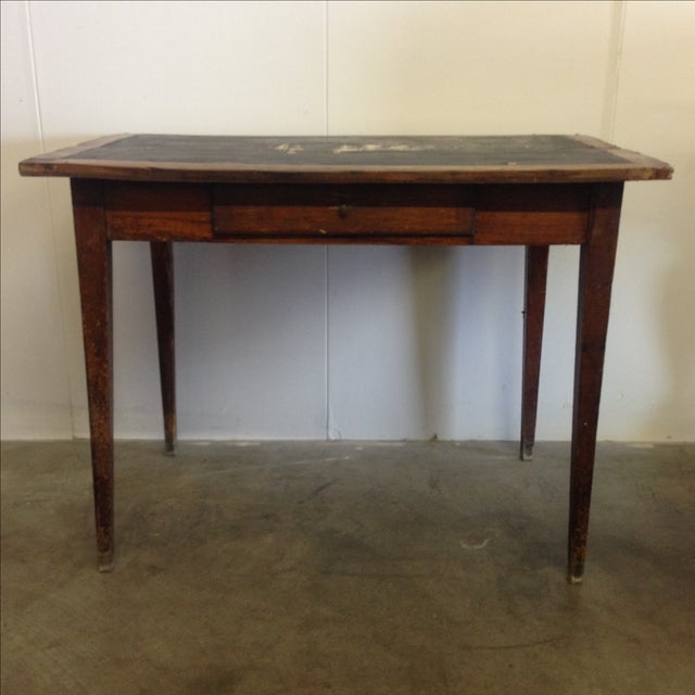 French Vintage Desk With Drawer - Image 7 of 10