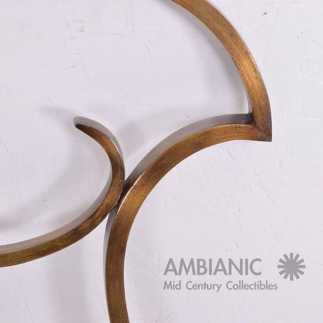 Brass Hollywood Regency Single Headboard in Solid Bronze For Sale - Image 7 of 10