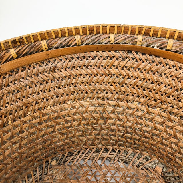 Chinese Antique Large Woven Empress Basket For Sale - Image 10 of 13