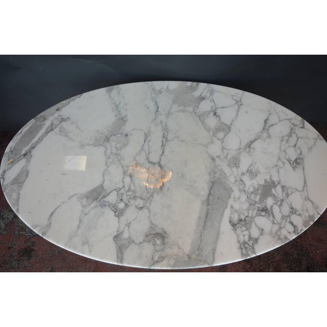 Mid-Century Modern Marble-Top Coffee Table For Sale - Image 3 of 5