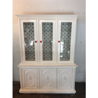 1960s Drexel Faux Rattan China Cabinet Preview
