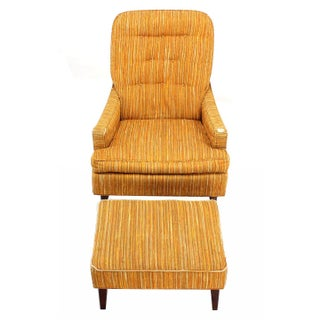 Vintage Mid Century Selig Lounge Chair and Matching Ottoman Preview