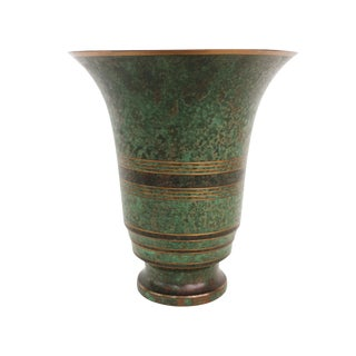 Carl Sorensen Verdigris Bronze Vase For Sale